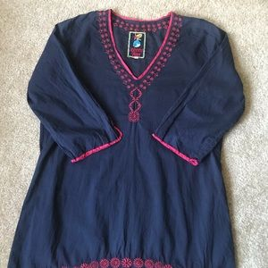 Johnny Was cover up/tunic.  100% cotton.  Size L